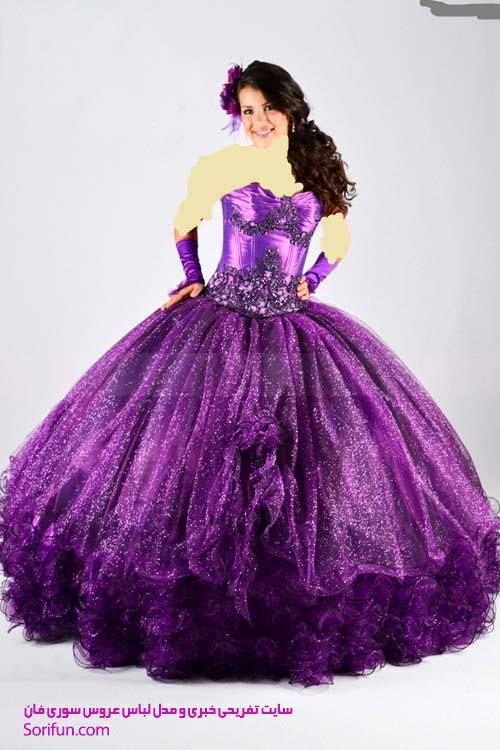 عکس لباس عروس رنگی