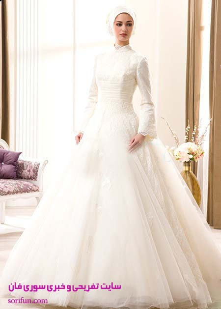 لباس عروس حجاب