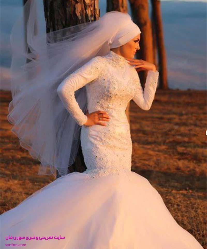 عکس لباس عروس با حجاب