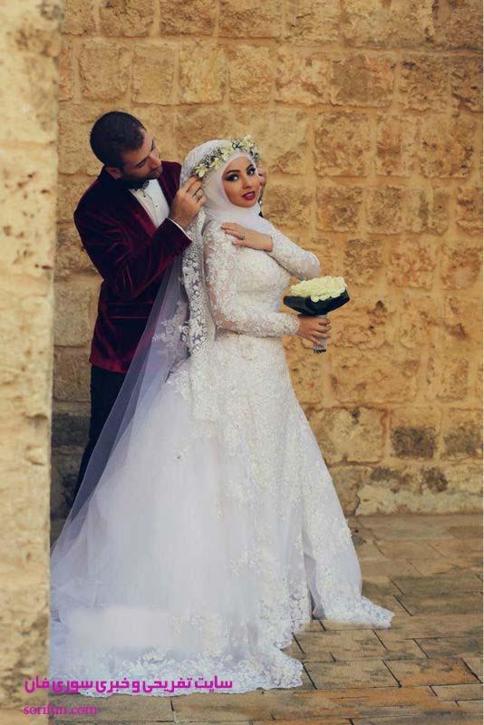 مدل لباس عروس حجاب
