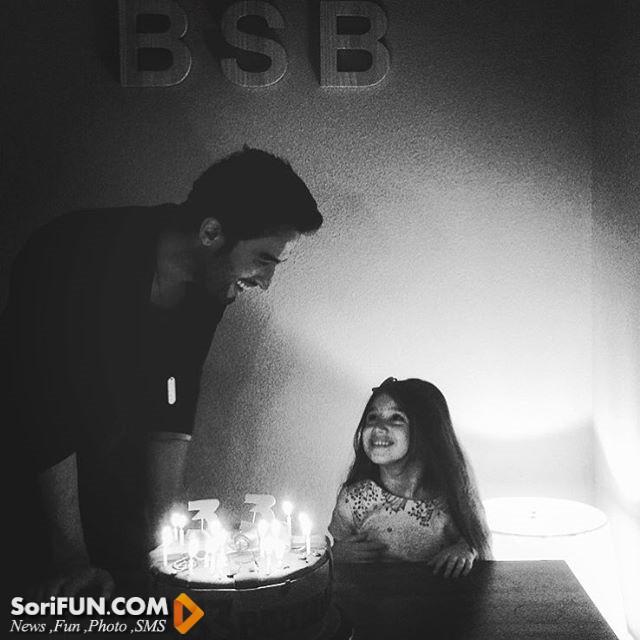 عکس جشن تولد ۳۳ سالگی بنیامین بهادری
