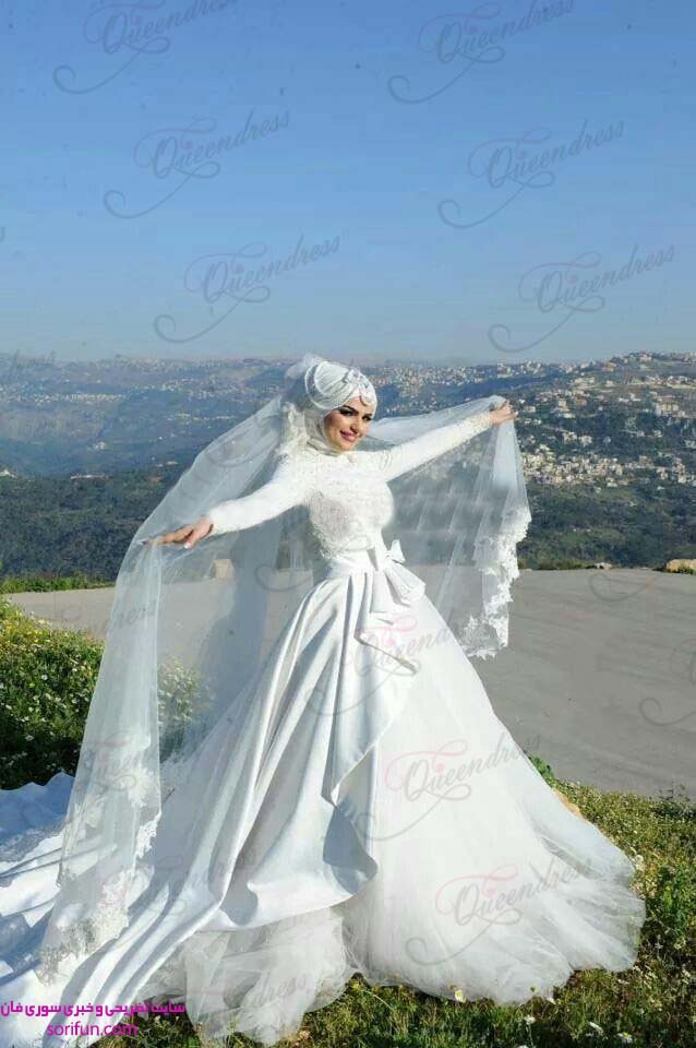 لباس عروس حجاب دار