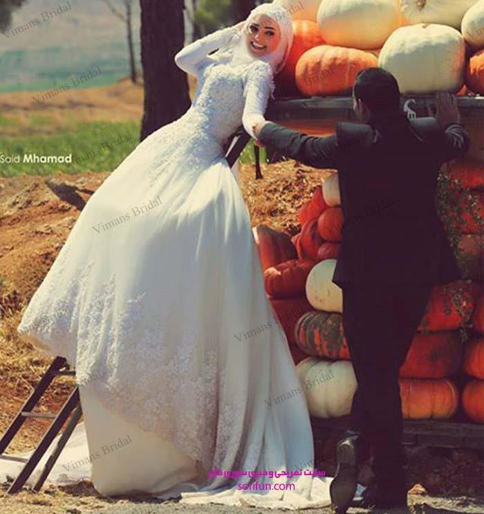 لباس عروس حجابی