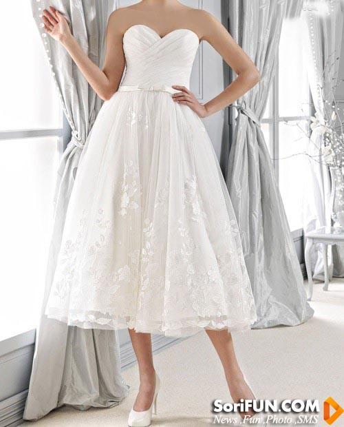 مدل لباس عروس شیک وساده