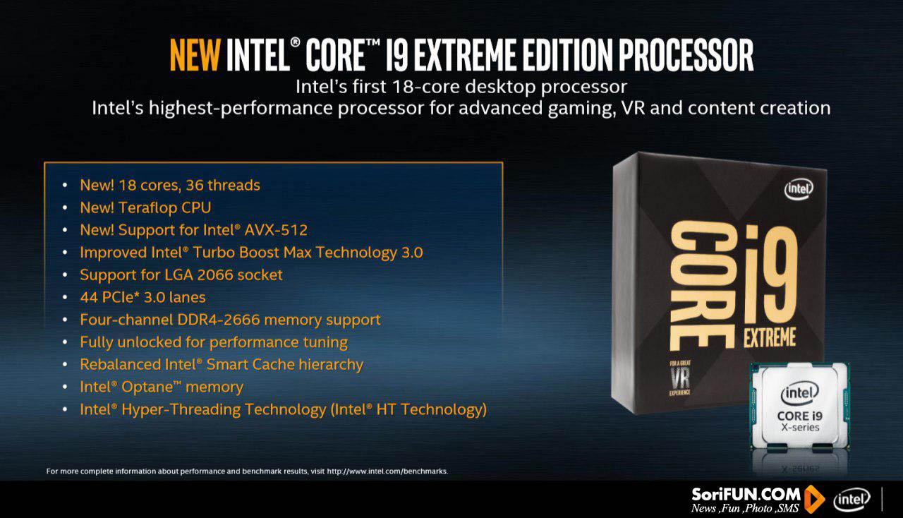 مشخصات Intel Core i9