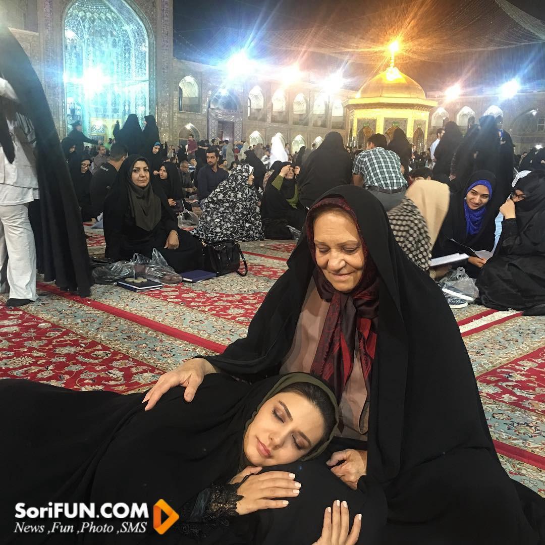 بازیگر زن ایرانی با حجاب
