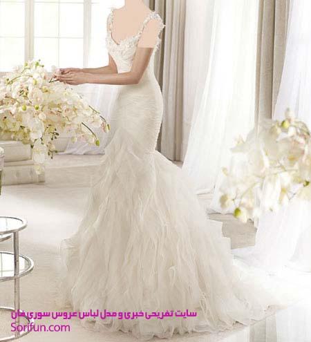 مدل لباس عروس بلند
